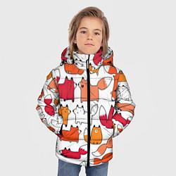 Куртка зимняя для мальчика Милые лисы цвета 3D-черный — фото 2