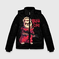 Куртка зимняя для мальчика Bella Ciao цвета 3D-черный — фото 1