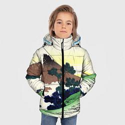 Куртка зимняя для мальчика ЯПОНИЯ цвета 3D-черный — фото 2