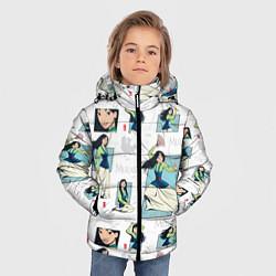 Куртка зимняя для мальчика Mulan Pattern цвета 3D-черный — фото 2
