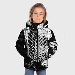 Куртка зимняя для мальчика Attack on titan цвета 3D-черный — фото 2