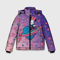 Детская зимняя куртка для мальчика с принтом Минни Маус, цвет: 3D-черный, артикул: 10250063506063 — фото 1