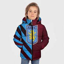 Куртка зимняя для мальчика Астон Вилла цвета 3D-черный — фото 2