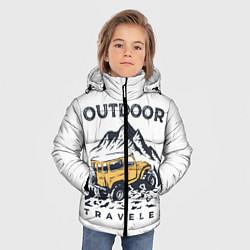 Куртка зимняя для мальчика Путешественник Z цвета 3D-черный — фото 2