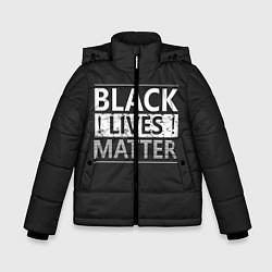 Куртка зимняя для мальчика Black lives matter Z цвета 3D-черный — фото 1