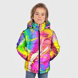 Детская зимняя куртка для мальчика с принтом ТИ-ДАЙ, цвет: 3D-черный, артикул: 10254980506063 — фото 2