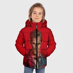 Куртка зимняя для мальчика Настоящий детектив цвета 3D-черный — фото 2