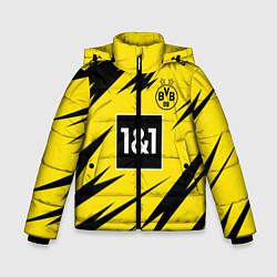 Куртка зимняя для мальчика HAALAND Borussia Dortmund цвета 3D-черный — фото 1