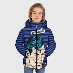 Куртка зимняя для мальчика Superman! цвета 3D-черный — фото 2