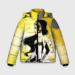 Куртка зимняя для мальчика Wonder Woman цвета 3D-черный — фото 1