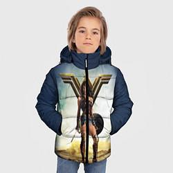 Куртка зимняя для мальчика Wonder Woman цвета 3D-черный — фото 2