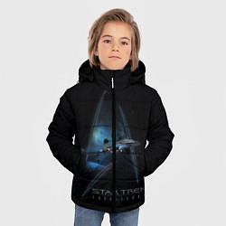 Куртка зимняя для мальчика Star Trek цвета 3D-черный — фото 2