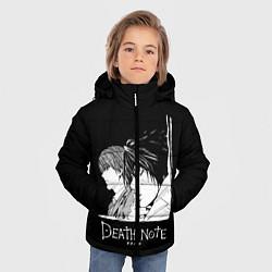 Куртка зимняя для мальчика Ягами и L цвета 3D-черный — фото 2