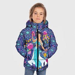 Куртка зимняя для мальчика Принцесса Жасмин цвета 3D-черный — фото 2