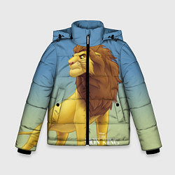 Куртка зимняя для мальчика Взрослый Симба цвета 3D-черный — фото 1