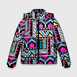 Куртка зимняя для мальчика Ацтеки цвета 3D-черный — фото 1