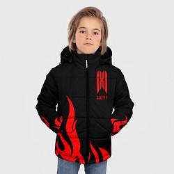 Куртка зимняя для мальчика Monsta X цвета 3D-черный — фото 2