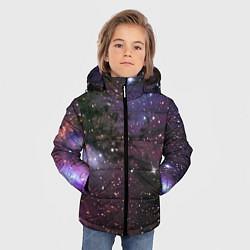 Куртка зимняя для мальчика Галактика S цвета 3D-черный — фото 2