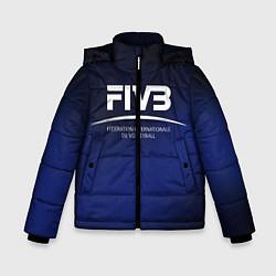 Куртка зимняя для мальчика FIVB Volleyball цвета 3D-черный — фото 1