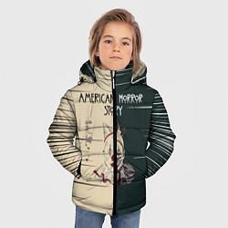 Куртка зимняя для мальчика American Horror Story цвета 3D-черный — фото 2