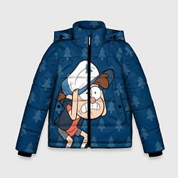 Куртка зимняя для мальчика Диппер Пайнс цвета 3D-черный — фото 1