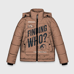 Куртка зимняя для мальчика Finding Who? цвета 3D-черный — фото 1