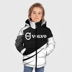 Куртка зимняя для мальчика VOLVO Вольво цвета 3D-черный — фото 2
