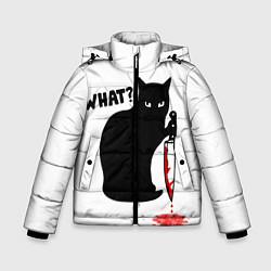 Куртка зимняя для мальчика What Cat цвета 3D-черный — фото 1
