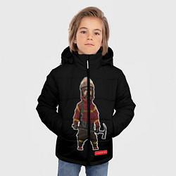 Куртка зимняя для мальчика Пожарное Делопожарный,черная цвета 3D-черный — фото 2