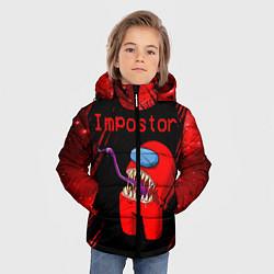 Куртка зимняя для мальчика AMONG US - MONSTER цвета 3D-черный — фото 2