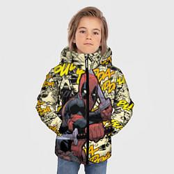 Детская зимняя куртка для мальчика с принтом Deadpool, цвет: 3D-черный, артикул: 10275016706063 — фото 2