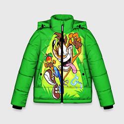 Детская зимняя куртка для мальчика с принтом CRASH BANDICOOT, цвет: 3D-черный, артикул: 10275187506063 — фото 1