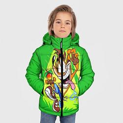 Куртка зимняя для мальчика CRASH BANDICOOT цвета 3D-черный — фото 2