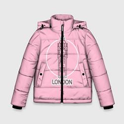 Куртка зимняя для мальчика Биг Бен, Лондон, London цвета 3D-черный — фото 1