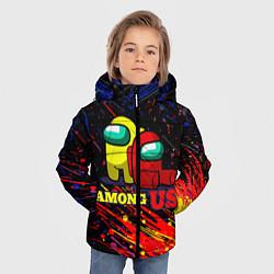 Куртка зимняя для мальчика AMONG US цвета 3D-черный — фото 2