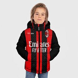 Куртка зимняя для мальчика AC MILAN 2021 - ДОМАШНЯЯ цвета 3D-черный — фото 2