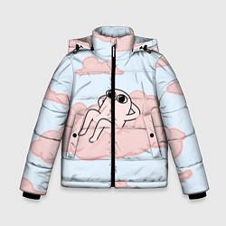 Куртка зимняя для мальчика Мем цвета 3D-черный — фото 1