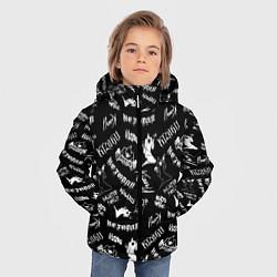 Куртка зимняя для мальчика KIZARU HAUNTED FAMILY цвета 3D-черный — фото 2