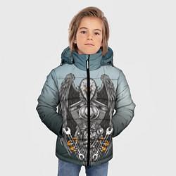 Куртка зимняя для мальчика Master цвета 3D-черный — фото 2
