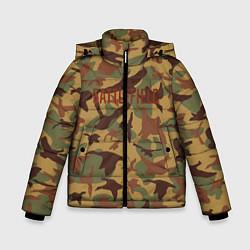Куртка зимняя для мальчика BATTLEFIELD CAMO S цвета 3D-черный — фото 1