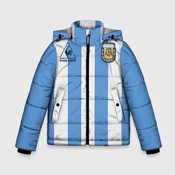 Куртка зимняя для мальчика Джерси Марадоны с автографом цвета 3D-черный — фото 1