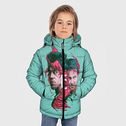 Куртка зимняя для мальчика Бойцовский клуб цвета 3D-черный — фото 2
