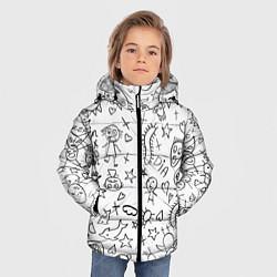 Куртка зимняя для мальчика DIE ANTWOORD цвета 3D-черный — фото 2