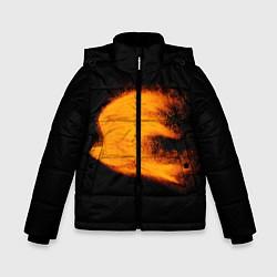 Куртка зимняя для мальчика Огненная птица цвета 3D-черный — фото 1