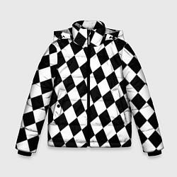 Куртка зимняя для мальчика Клетки цвета 3D-черный — фото 1