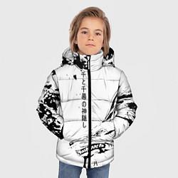 Куртка зимняя для мальчика Dragon Haku цвета 3D-черный — фото 2