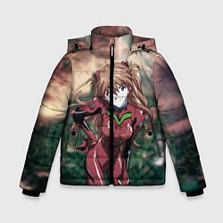Куртка зимняя для мальчика Аска Евангелион цвета 3D-черный — фото 1