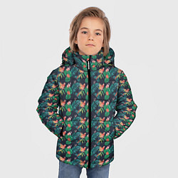 Куртка зимняя для мальчика Прекрасный Ара цвета 3D-черный — фото 2