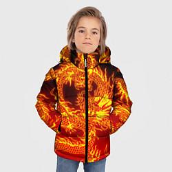 Куртка зимняя для мальчика ДРАКОН цвета 3D-черный — фото 2