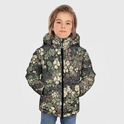 Куртка зимняя для мальчика Камуфляж с клевером цвета 3D-черный — фото 2